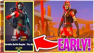 How To Get THE ACE STARTER PACK EARLY in Fortnite Battle Royale!