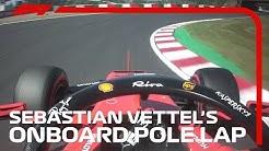 Sebastian Vettel's Onboard Pole Lap   2019 Japanese Grand Prix   Pirelli