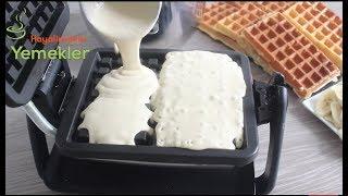 Bu Güne Kadar Waffle Yediğini mi Sanıyorsun ? İşte MUHTEŞEM WAFFLE TARİFİ - Waffle Recipe-Gaufres
