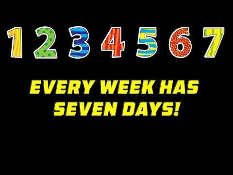 LEARN DAYS OF THE WEEK SONG Preschool And Kindergarten