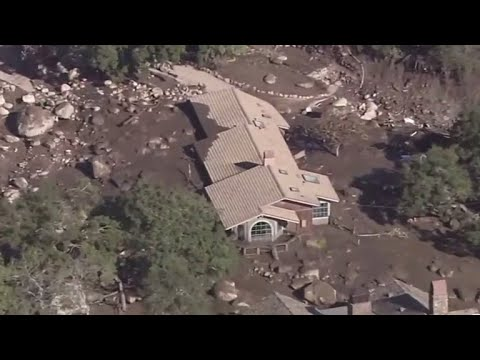 California mudslides' death toll rises as searches continue