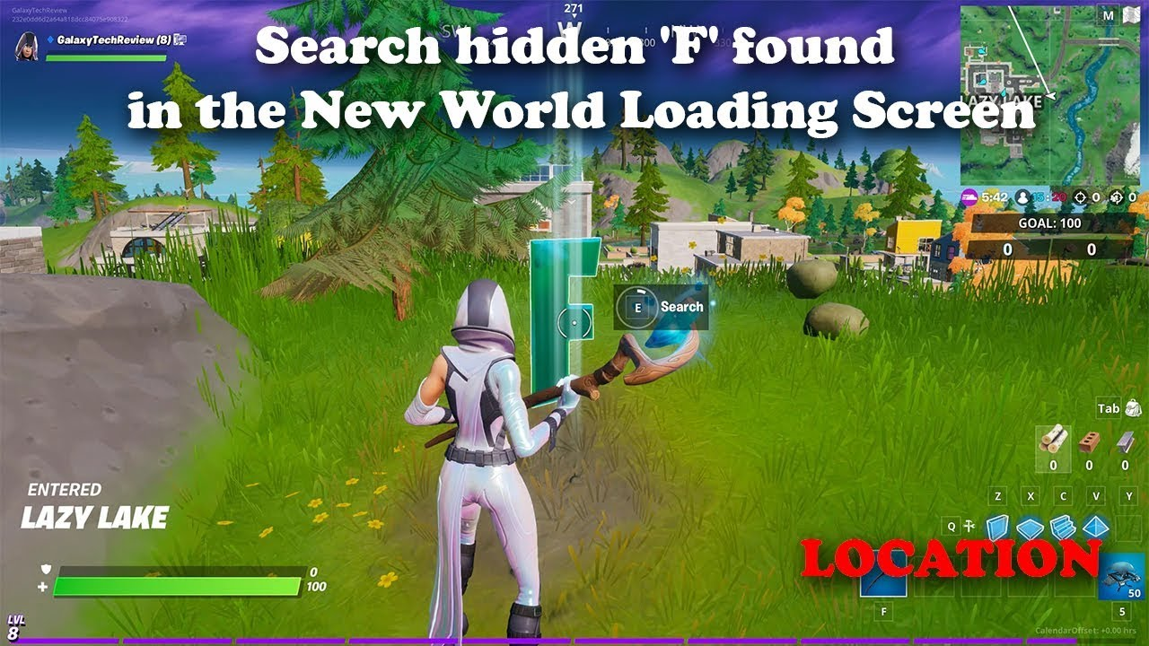 Search Hidden F Found In The New World Loading Screen Fortnite