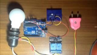 light sensitive lamp using relay with arduino