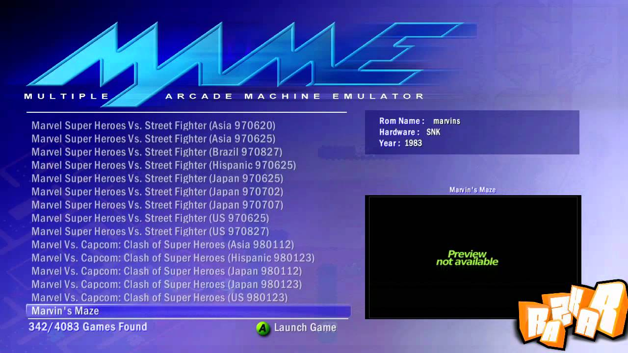Mame 0 72 For Xbox 360 By Lantus360