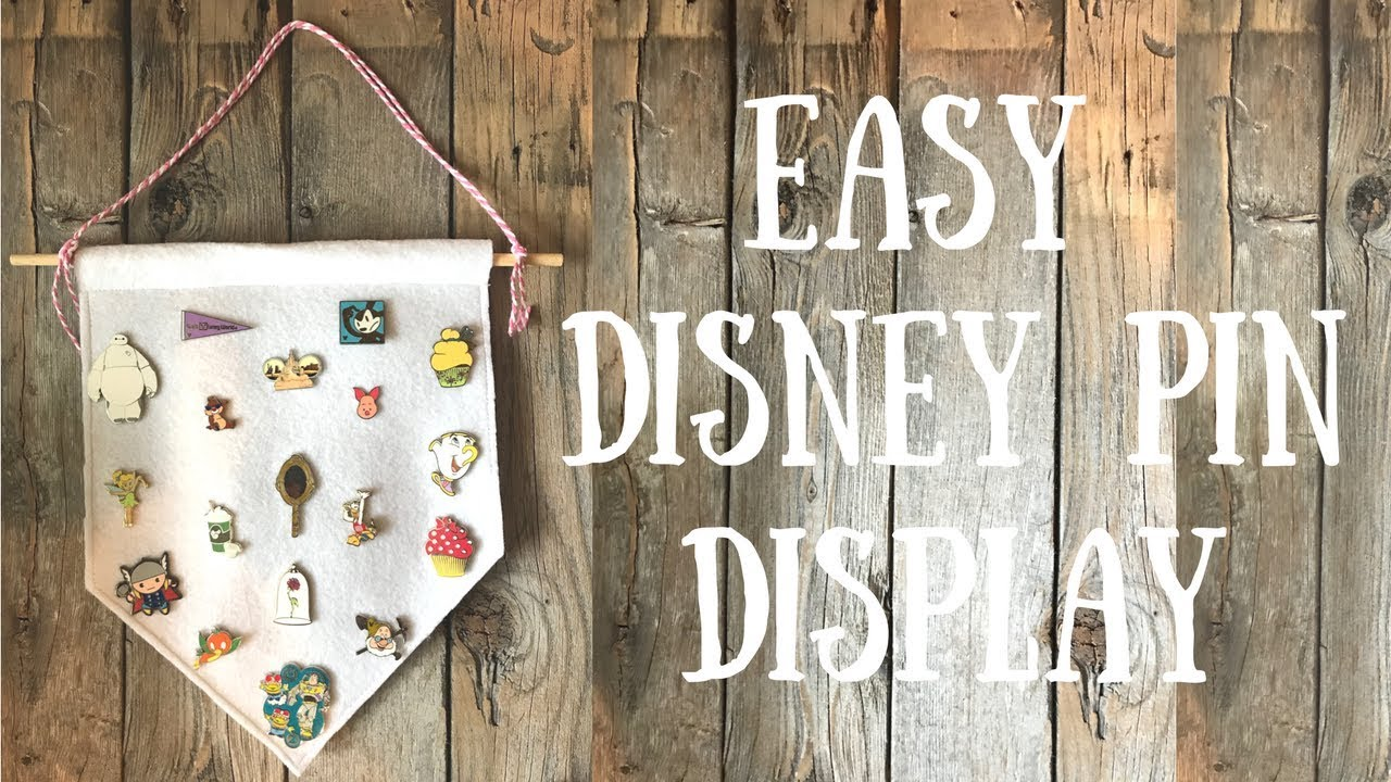 Easy DIY Disney Pin Display | Pinterest Inspired