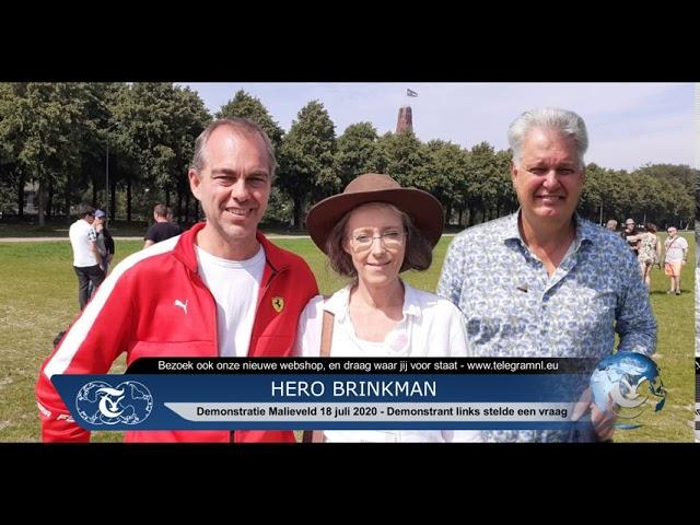TelegramNL Nieuws | Interview Hero Brinkman, Malieveld Den Haag 18 juli 2020