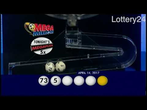 2017 04 14 Mega Millions Numbers and draw results