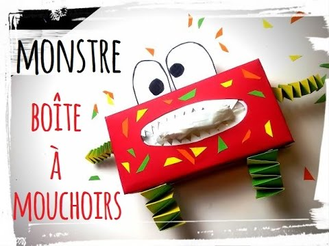 Boite Mouchoirs Monstre Diy Activit Manuelle Halloween Youtube