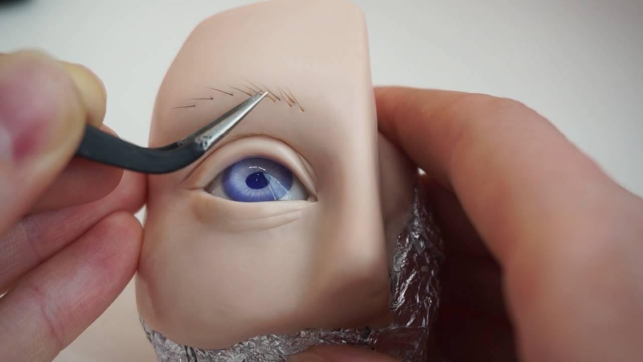 Ресницы для куклы своими рук фото 594