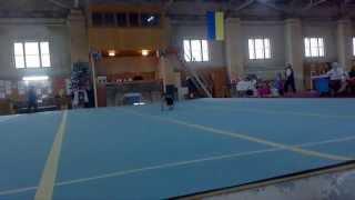 Спортивна гімнастика, 2 юнацький розряд Лещак Аня 2007 р.н. (вільні вправи)