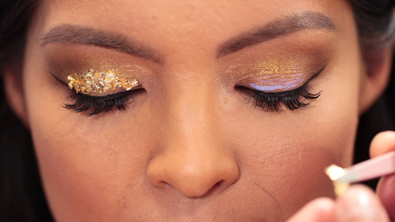Gold Leaf Eye Makeup Andrew Velzquez Youtube