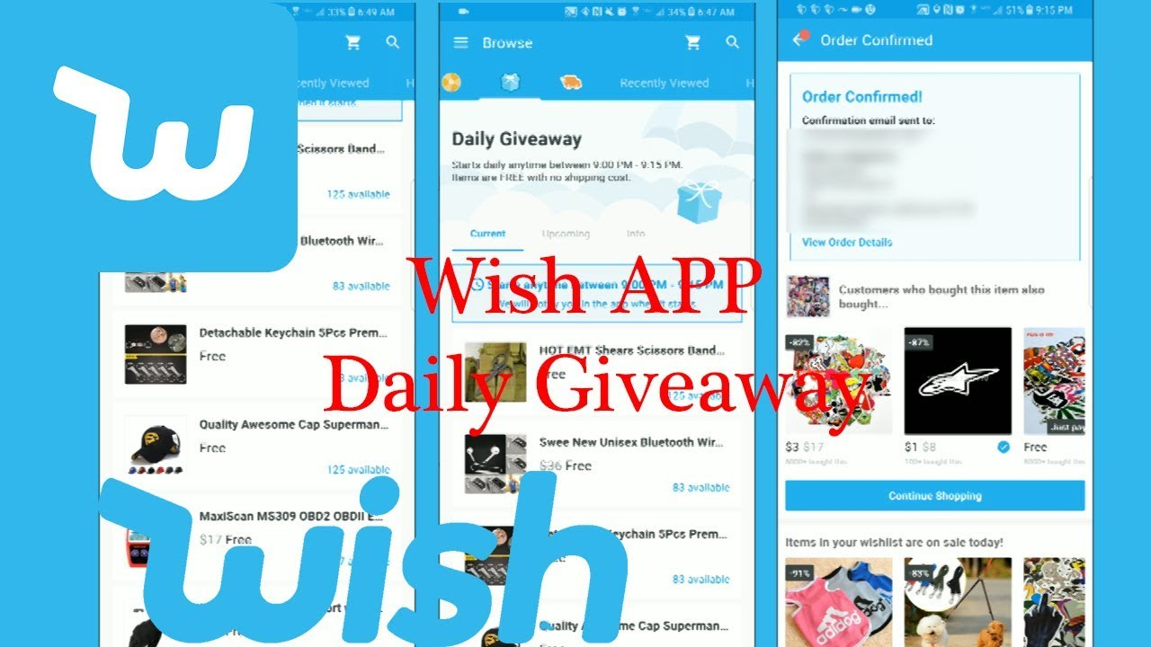 how to win wish daily giveaway wish app daily giveaway how to win an item youtube 3203