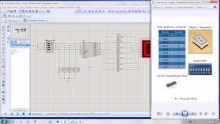 simular convertidor bcd a un display 7 segmento