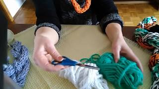 Loop Schal DIY -Fingerhandstricktechnik