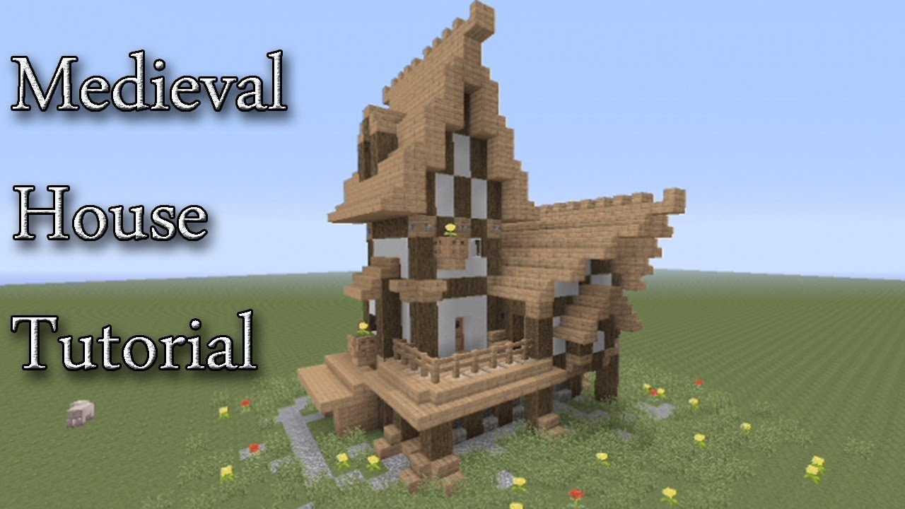 minecraft xbox 360 - medieval house tutorial (11x7) - youtube