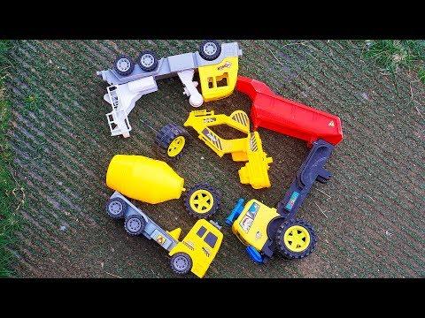 Assembling Construction Vehicles Crane, Auto Dump Truck Toys For Kids G410Q