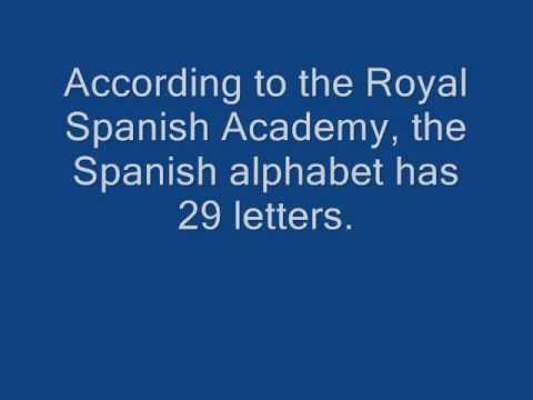 Spanish alphabet song military style slow