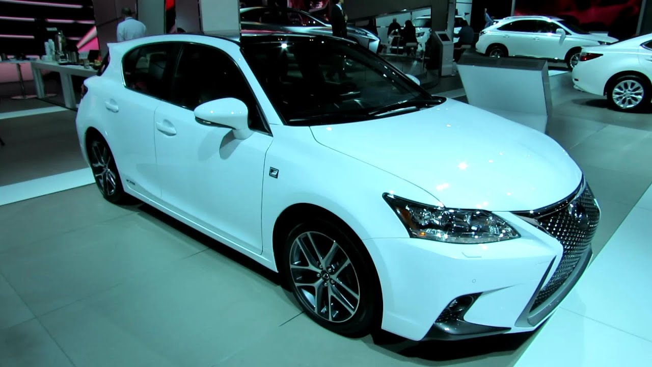 2015 lexus ct200h f sport exterior and interior walkaround 2014 detroit auto show youtube