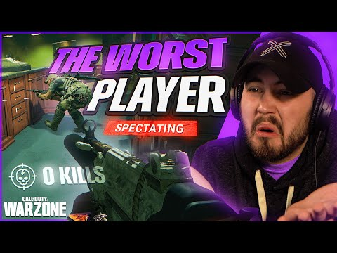 I Spectated the WORLDS MOST CLUELESS Warzone Player (0.08KD)