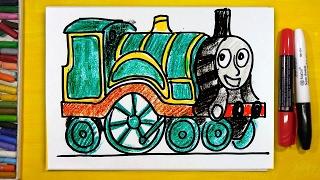 Паровозик Эмили мультик Томас и друзья / урок рисования для детей