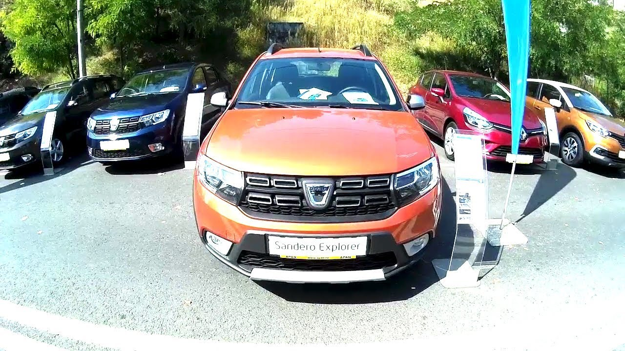 new dacia sandero explorer 1 5 easy r orange youtube. Black Bedroom Furniture Sets. Home Design Ideas