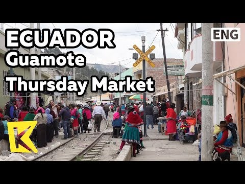 【K】Ecuador Travel-Guamote[에콰도르 여행-구아모테]목요 시장/Thursday/Market/Traditional Clothes/Bayeta