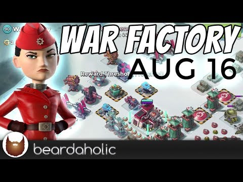 Boom Beach Gearheart War Factory Unboosted Gameplay Walkthrough for Aug 16, 2018
