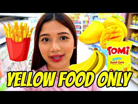 EATING YELLOW FOOD FOR 24 HOURS! (Philippines)