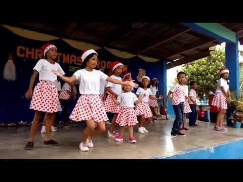 3 y.o & Grade 5 Students of Trinidad Elementary School (xmas party)