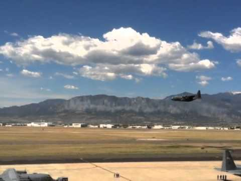 Air Force Reserve C-130 performs MAFFS capability demonstration at Peterson AFB