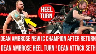 Dean Ambrose Winning IC Title After Return ! Dean Attack Seth ! Dean Heel Turn At SummerSlam 2018