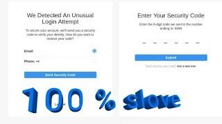 enter your security code problem how to fix | Instagram verification code problem solve