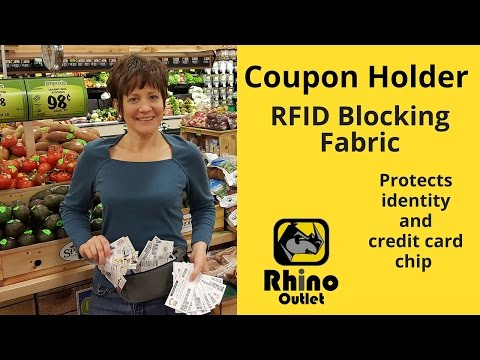 Coupon Holder with RFID Blocking Fabric