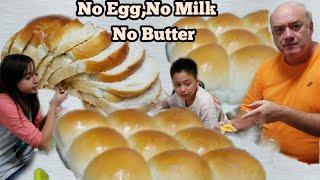 Resep Roti Lembut  tanpa Telur,Susu,Mentega. Bisa jadi Roti Tawar & Sobek.