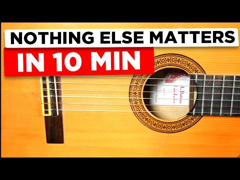 Gitarre lernen für Anfänger - Nothing else matters - einfach erklärt