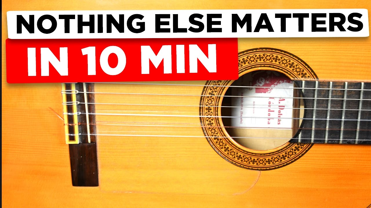 how to play nothing else matters chords