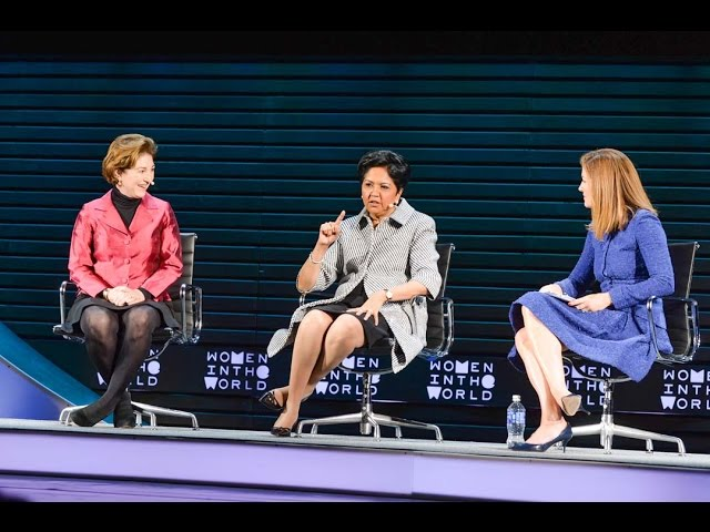 """49ea6257 Indra Nooyi and Anne-Marie Slaughter attack the """"unfinished business"""" of  work-life balance – Women in the World"""