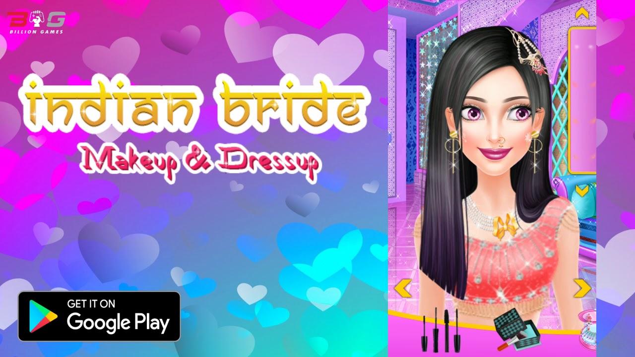 Indian Bride Makeup And Dress Up Game Youtube - Bride-makeup-games