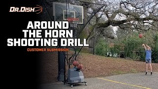 35 Reps in 2 and Half Minutes - Around The Horn Shooting Drill on Dr. Dish Shooting Machine