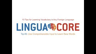 10 Tips for Learning Vocabulary in Any Language - Tip# 3: Use comprehensible input to learn words