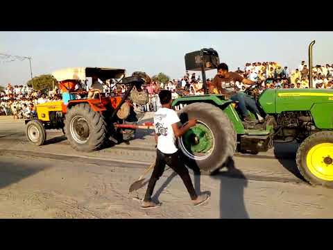 HMT 5911 Vs John Deere || Tractor Tochan Video || Hmt Loverz