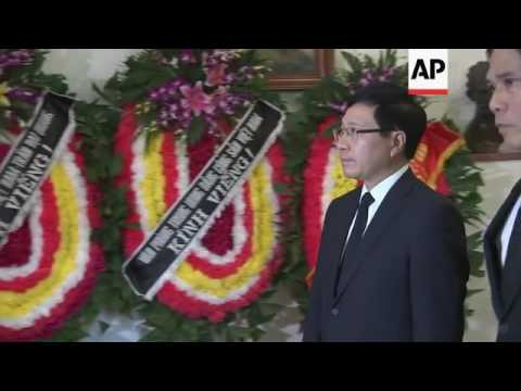Vietnam communist party chief at Cuban Embassy