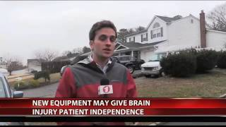 FiOS 1 News - Marty Lyons Foundation Helps Get Quadriciser for Brain Injured Man - March 7, 2017