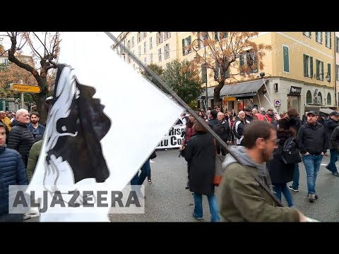 🇫🇷 Corsica's nationalists stage protest ahead of Macron visit