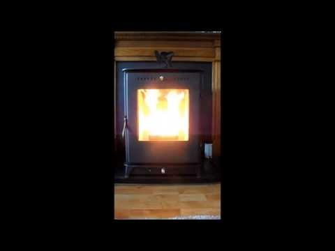 Conventional Stove Convertible to Wood Pellet With Automatic Feeding System