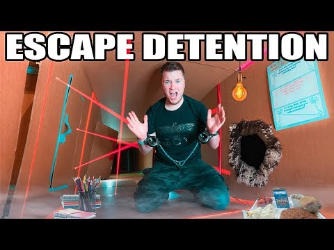 BOX FORT HIGH SCHOOL ESCAPING DETENTION!!  Lasers, Drones & More!