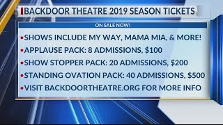 Backdoor Theatre 2019 season tickets