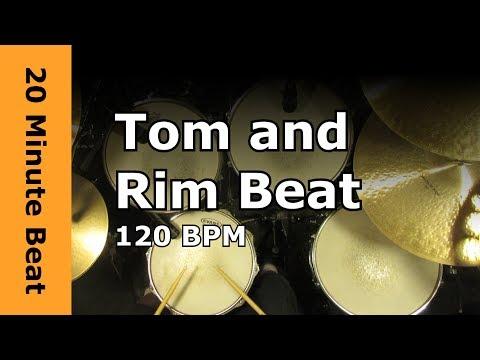 20 Minute Drum Loop - Tom & Rim Beat 120 BPM - Cross Stick Version