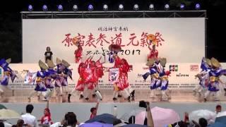 第13回原宿表参道元氣祭、スーパーよさこい2013 二日目、原宿口ステージ...