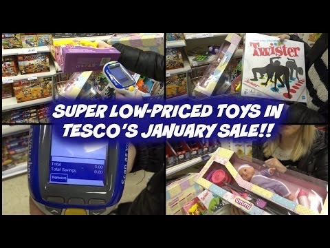 Super Low-Priced Toys in Tesco's January Sale